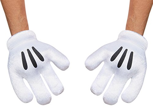 Disguise Costumes Mickey Mouse Gloves, Adult
