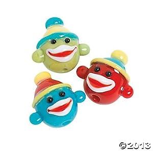 Glass Sock Monkey Lampwork Beads - 24 pcs