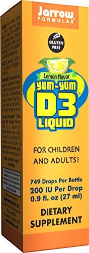 Jarrow Formulas Yum-Yum D3 Liquid, For Immune and Bone Support, 200IU, 0.9 Fluid Ounce (Pack of 2) (Yum Yum Vitamin D Drops compare prices)