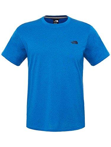 North Face T-Shirt da uomo Reaxion Amp Crew UE, Uomo, T-Shirt Reaxion Amp Crew Eu, Bomber Blue Heather, M