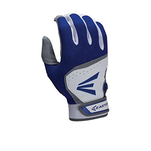 Easton Youth HS7 Batting Gloves, White/Royal, Large (Blue Batting Gloves compare prices)
