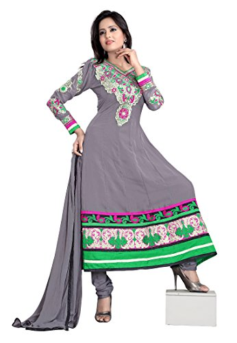 7 Colors Lifestyle Women Georgette Salwar Suit Dress Material (Aajdr1010Nzkt _Grey _Free Size)