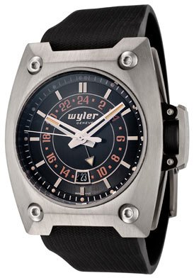 Men's Code R Automatic GMT Black Dial Black Rubber