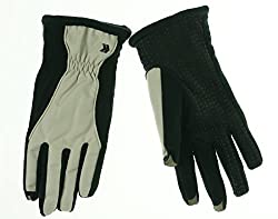 ISO Isotoner Women's Touchscreen Compatible 2 Tone Gloves Plaquet XL