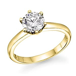 Diamond Impressions DI1005172 Certified .33 Ct. 14k Yellow Gold Round Diamond Solitaire Ring D I1