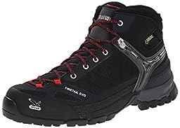 Salewa Men\'s MS Firetail EVO Mid GTX Approach Shoe, Black, 11.5 M US