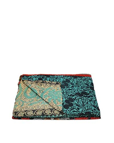 Kantha Bengali Printed Quilted Throw