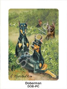 Best Friends Playing Cards, by Ruth Maystead - Doberman Pinscher - 1