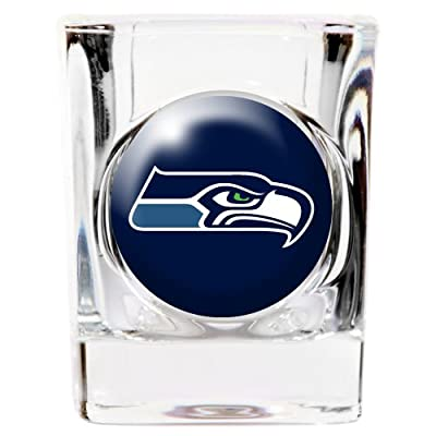 Great American 8900675299 2 oz. Seattle Seahawks Square Shot Glass