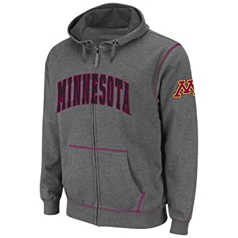 NCAA Minnesota Golden Gophers Mens Blackout Full-Zip Fleece Hoodie by Colosseum
