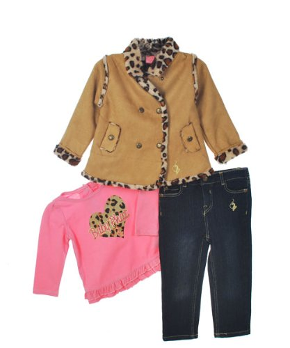 "Baby Phat ""Wild Child"" 3-Piece Outfit (Sizes 12M - 24M) - dark wash, 12 months"