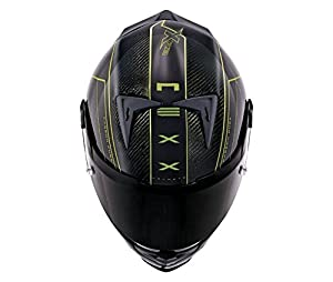 NEXX X.R2 Carbon Pure Neon Yellow Motorcycle Helmet (Medium) by NEXX
