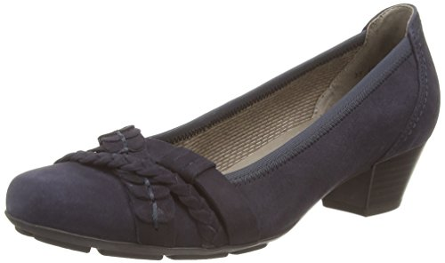 Gabor Shoes - Gabor Basic 35.411, Pumps da donna, Blu (Blue (Dark Blue Suede)), 42.5