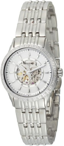Bulova Women's 96R139 Mechanical hand wind Diamond Case Mother-Of-Pearl Dial Watch