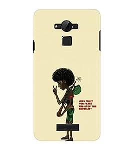 EPICCASE Let's Fight for Peace Mobile Back Case Cover For CoolPad Dazen Note 3 Lite (Designer Case)