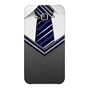 Premium Decent Student Grey Back Case Cover for Samsung Galaxy J5