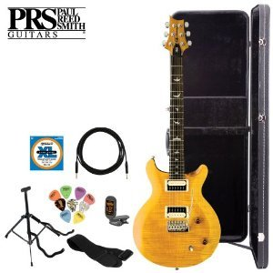 Paul Reed Smith Se Santana Electric Guitar Kit (Santana Yellow) With Tuner, Cable, Strap, Strings, Stand, Picks And Hard Case