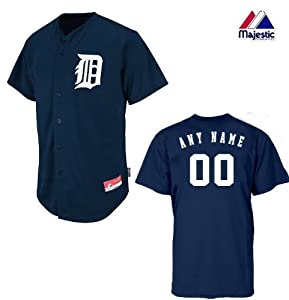 Detroit Tigers Full-Button CUSTOM or BLANK BACK Major League Baseball Cool-Base... by Majestic Authentic Sports Shop