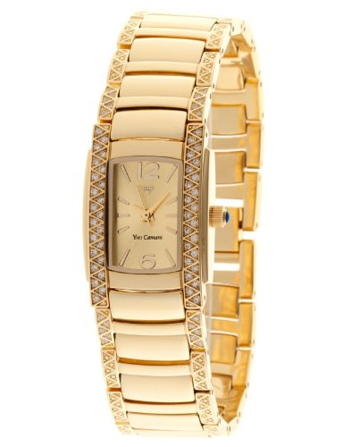 Yves Camani Ladies Watch Quartz Bracelet Stainless Steel Coated JULIETTE Mineral Glass gold / gold YC1035-A
