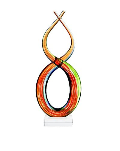 Home Essentials 12 Art Glass Twisted Flame, Multi