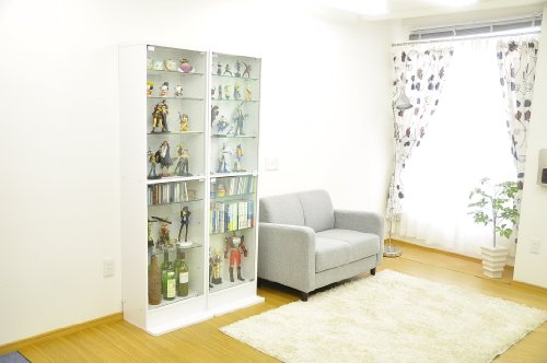 Collection rack [Luke] figure case high type CLR-D-485 white deep