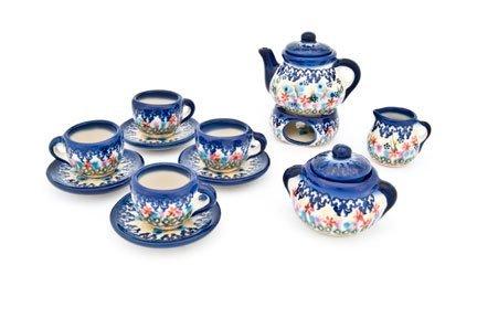 Polish Pottery Garden Of Eden Miniature Tea Set