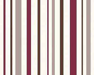 Esprit 1417 43 wallpaper striped city glam design cream - Red brown and cream wallpaper ...