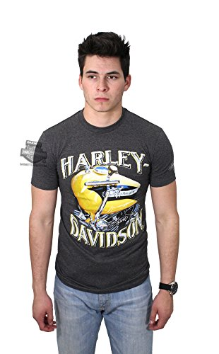 Harley-Davidson Mens 1956 Panhead Tank Scott Jacobs Charcoal Short Sleeve T-Shirt - XL