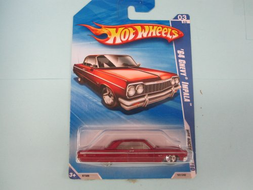 '64 Chevy Impala 2010 Hot Auction Walmart Exclusive Red with B.F. Goodrich Tires