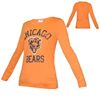 WOMENS Pink Victoria's Secret NFL Chicago Bears Crew-Neck Long Sleeve T Shirt