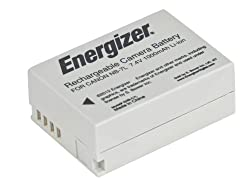 Energizer ENB-C7L Digital Replacement Battery NB-7L for Canon PowerShot G12 G11 G10 and SX30 (Grey)