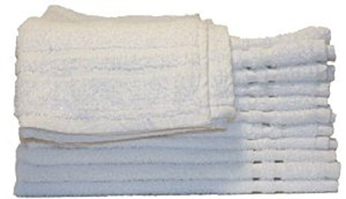120 (10 DOZ) WHITE 100% COTTON HOTEL HAND TOWELS 16X27