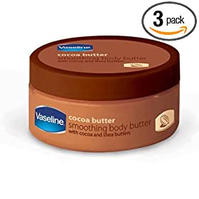 Vaseline Cocoa Butter Body Butter, 8-Ounces Jars (Pack of 3)
