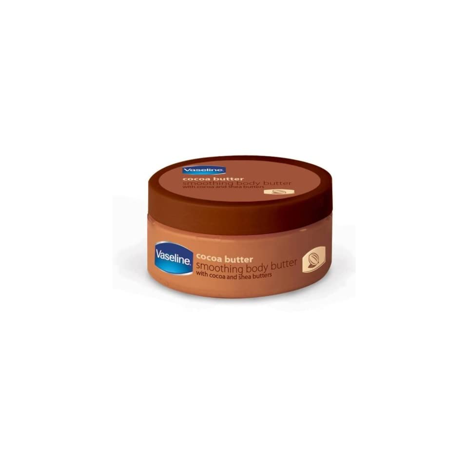 Vaseline Cocoa Butter Body Butter, 8 Ounces Jars (Pack of