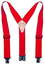 Perry Suspender Men's 2'' Elastic Original Adjustable Suspenders (Red)