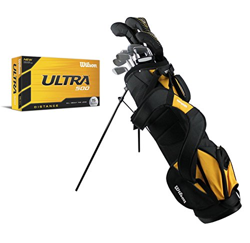 Wilson Ultra Complete LH Mens Golf Club Set w/ Stand Bag + (15) Ultra Golf Balls