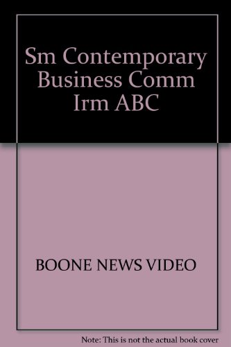 Contemporary Business Communication Instructor's Resource Manual with ABC News Video Activity Guide