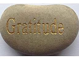 Gratitude Engraved Stones / River Rocks With Inspirational Words - Gifts Or Paper Weights