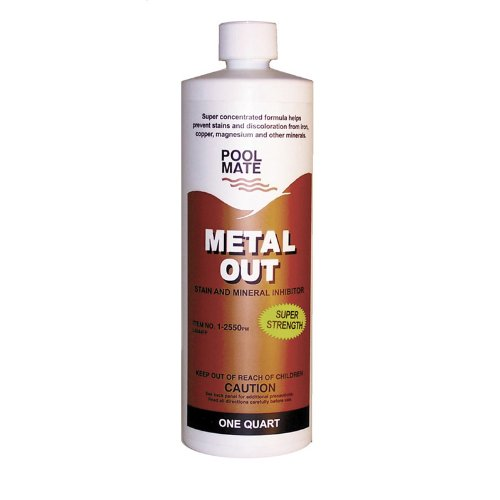 Pool Mate 1-2550 Mineral Out And Stain Remover For Swimming Pools, 1-Quart