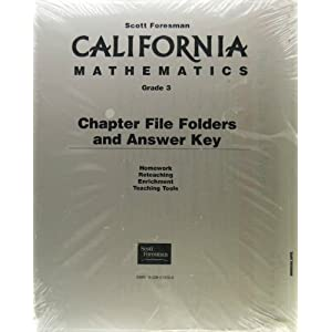 CA MATH 2001C CHAPTER FILE FOLDERS PACKAGE GRADE 2 Scott Foresman