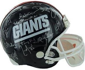 New York Giants 1986 SB XXI Champs Team signed Full Size TB Proline Helmet with 29... by Sports Memorabilia
