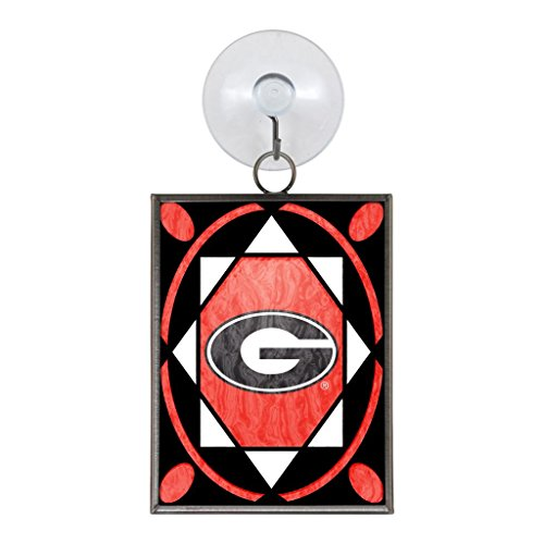 Georgia Bulldogs Official NCAA 2 inch x 3 inch Stained Glass Christmas Ornament