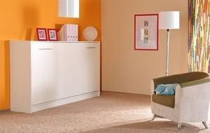 schrankbett schrankklappbett burg 140x200 cm holzfarbe weiss sonderangebote. Black Bedroom Furniture Sets. Home Design Ideas