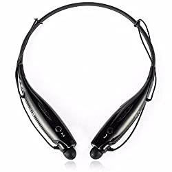 ShopAIS HBS-730 Compatible Bluetooth Stereo Headset HBS 730 Wireless Bluetooth Mobile Phone Headphone Earpod Sport Earphone with call functions (Black) for BlackBerry Z10 Phone