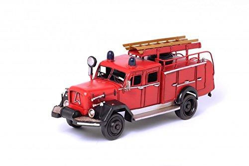 Model Car Fire Truck Magirus Equipment Vehicle - Retro Tin Model