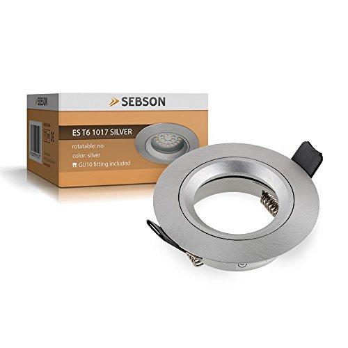 Einbauleuchte silber / Einbaustrahler (LED / Halogen)
