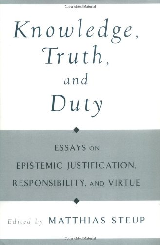 essays on knowledge and justification Amazoncom: essays on a priori knowledge and justification (9780199395750): albert casullo: books.