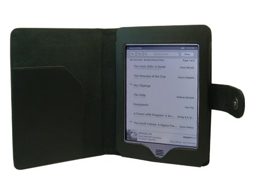 Poetic Pu Leather Folio Case For New Kindle Touch, Wi-Fi And 3G, 6 - Inch E Ink Display Latest Generation Black
