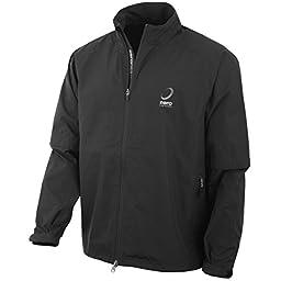 Zero Restriction Men\'s Packable Jacket Long Sleeve Rain Jacket, Black, Small