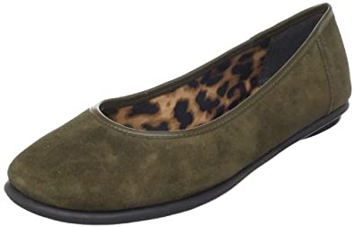 Clarks Women's Book Pump Flat,Olive Suede,12 N US